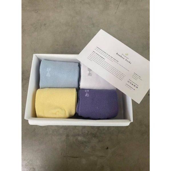 14 – Essential+ Pastel colors for him and her 4-pak bambusstrømper